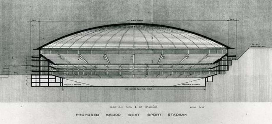An October 1967 Seattle stadium proposal. Photo: P-I File