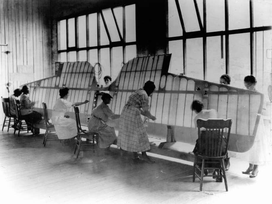 Until the 1930s, the wings and some other parts of airplanes were made of wooden frames covered by fabric. Photo: P-I File