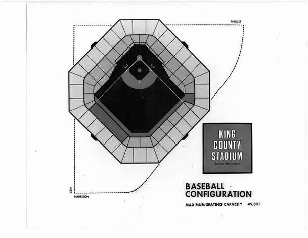 A proposal for what became the Kingdome, September 1969. Photo: P-I File