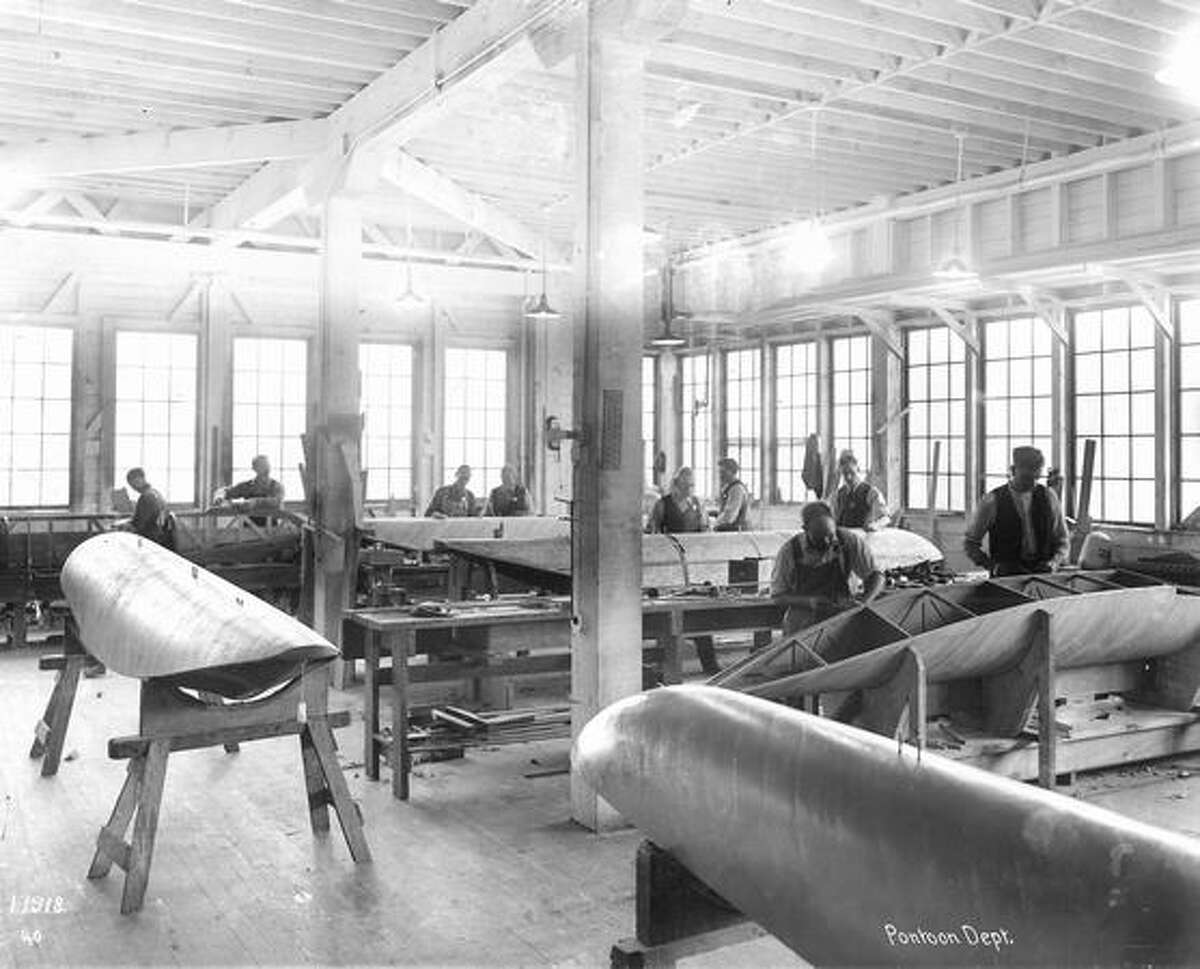 An early view of Boeing production. Exact date unknown.