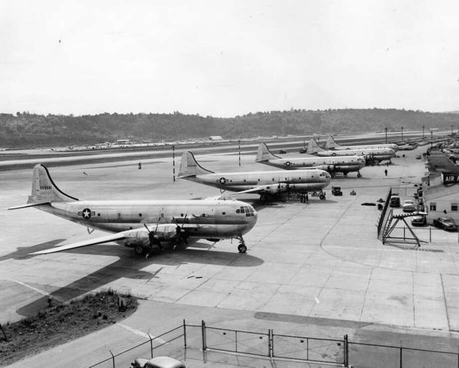 Boeing C-97 Stratofreighters, 1951. Photo: P-I File
