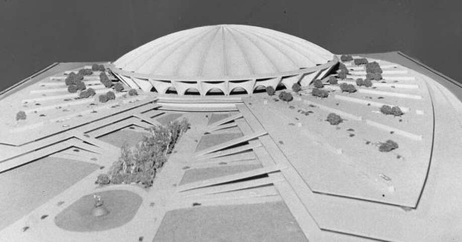 An April 1969 proposal for what became the Kingdome. Photo: P-I File