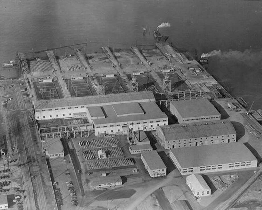 The original caption for this photo indicates it is a pre-Pearl Harbor view of a Boeing plant. The exact date is not known. Photo: P-I File