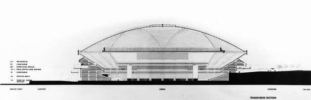 A proposed stadium sketch, May 1970. Photo: P-I File