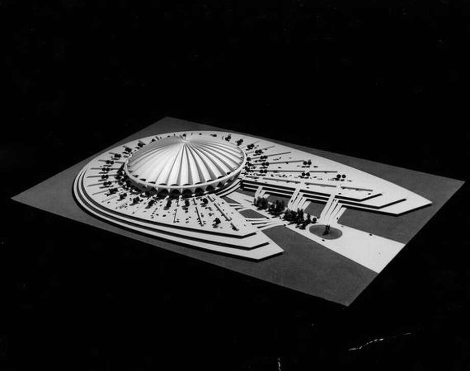 A March 1969 proposal for what became the Kingdome. Photo: P-I File