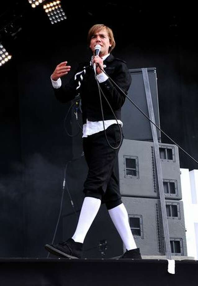 Pelle Almqvist of The Hives performs during Day 1 of the Hard Rock Calling festival held in Hyde Park on June 25, 2010 in London, England. Photo: Getty Images