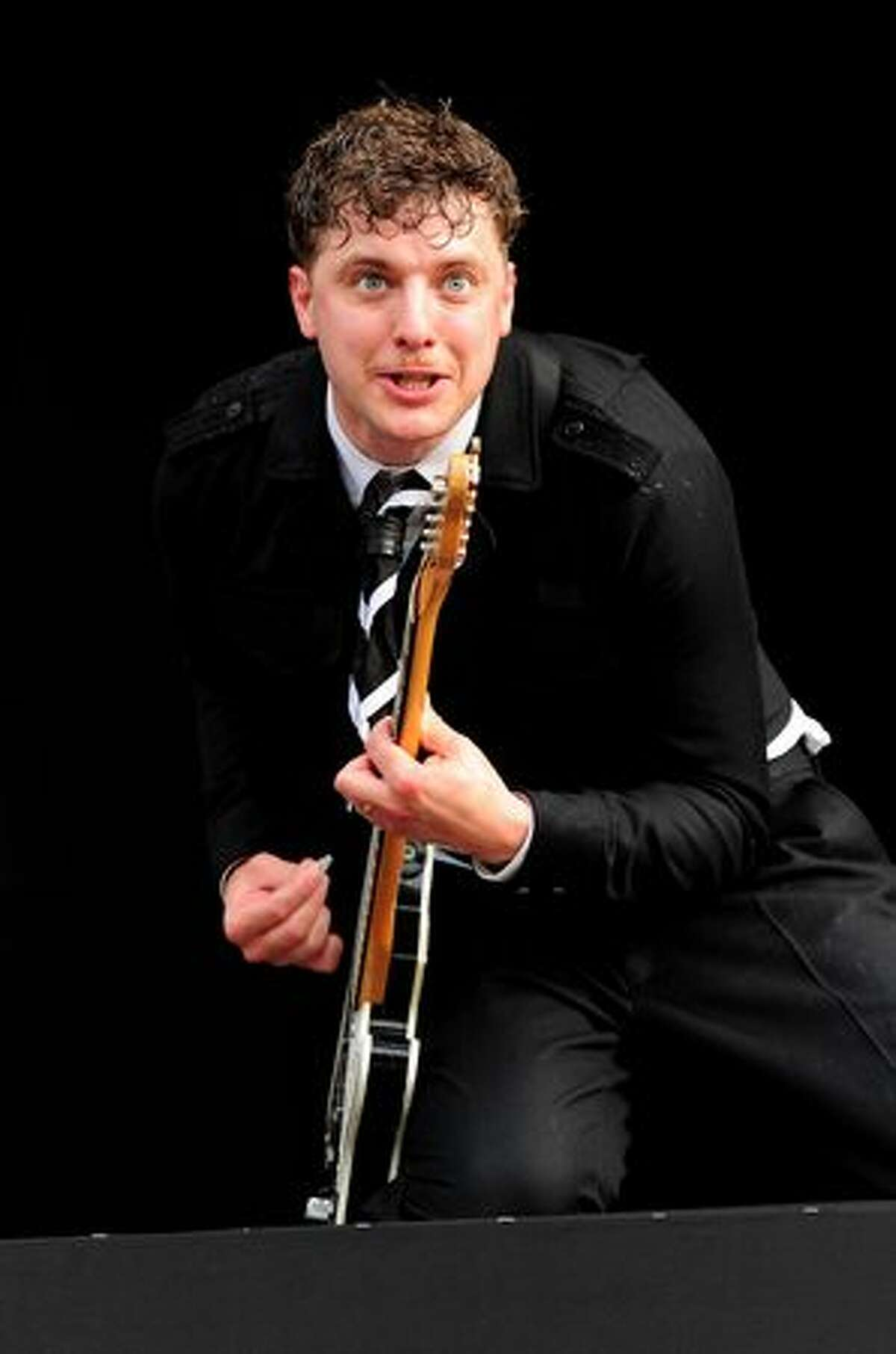 Nicholaus Arson of The Hives performs during Day 1 of the Hard Rock Calling festival held in Hyde Park on June 25, 2010 in London, England.