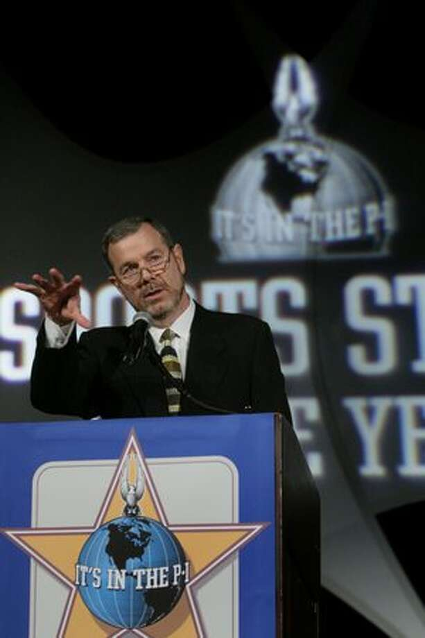 Sonics coach P.J. Carlesimo speaks during the Seattle P-I Sports Star of the Year banquet Jan. 22, 2008, at the Westin in Seattle. (Joshua Trujillo/seattlepi.com file)