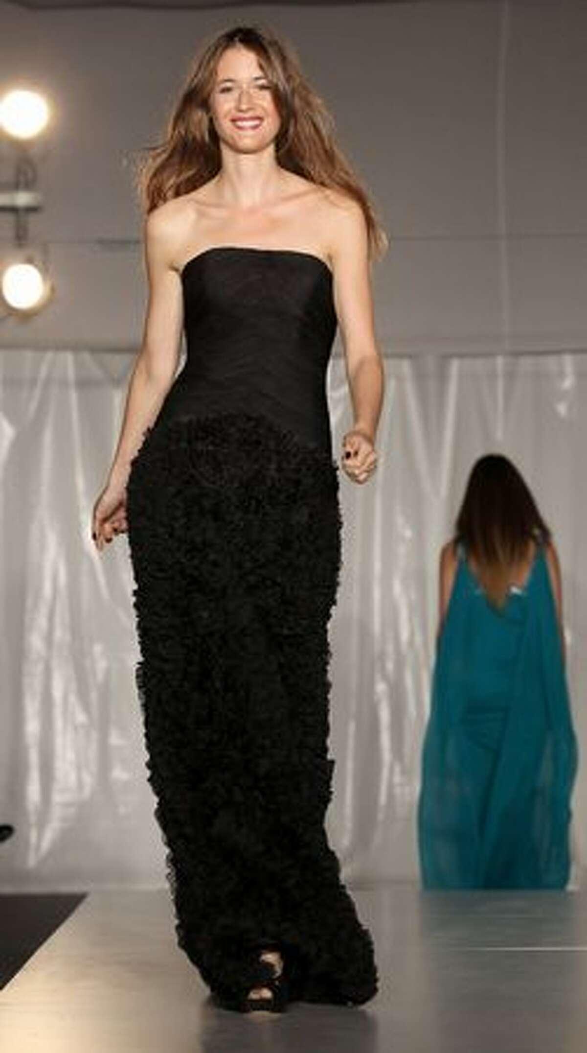 Susanna Gialori walks the runway dressing Pronovias during 'Italia - Milano, 150 Anni In Salute' - Charity Gala held at Villa Necchi in Milan, Italy.