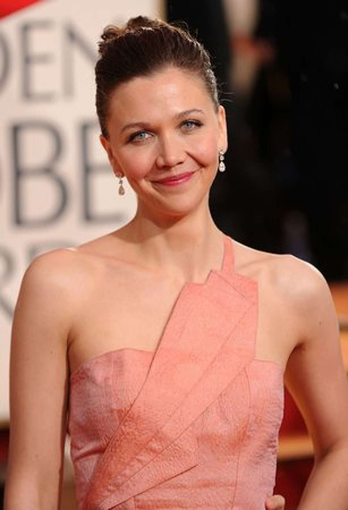 Actress Maggie Gyllenhaal arrives at the 67th Annual Golden Globe Awards held at The Beverly Hilton Hotel in Beverly Hills, California.
