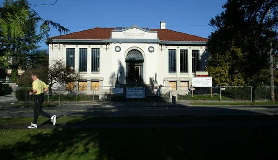 Green Lake Library will get earthquake retrofit under levy passed last night.  Photo: P-I File