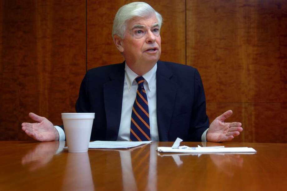 Democratic Senator Christopher Dodd talks with the Connecticut Post editorial board Friday Sept. 18, 2009 at the newspaper's office in Bridgeport, Conn. Photo: Autumn Driscoll / Connecticut Post