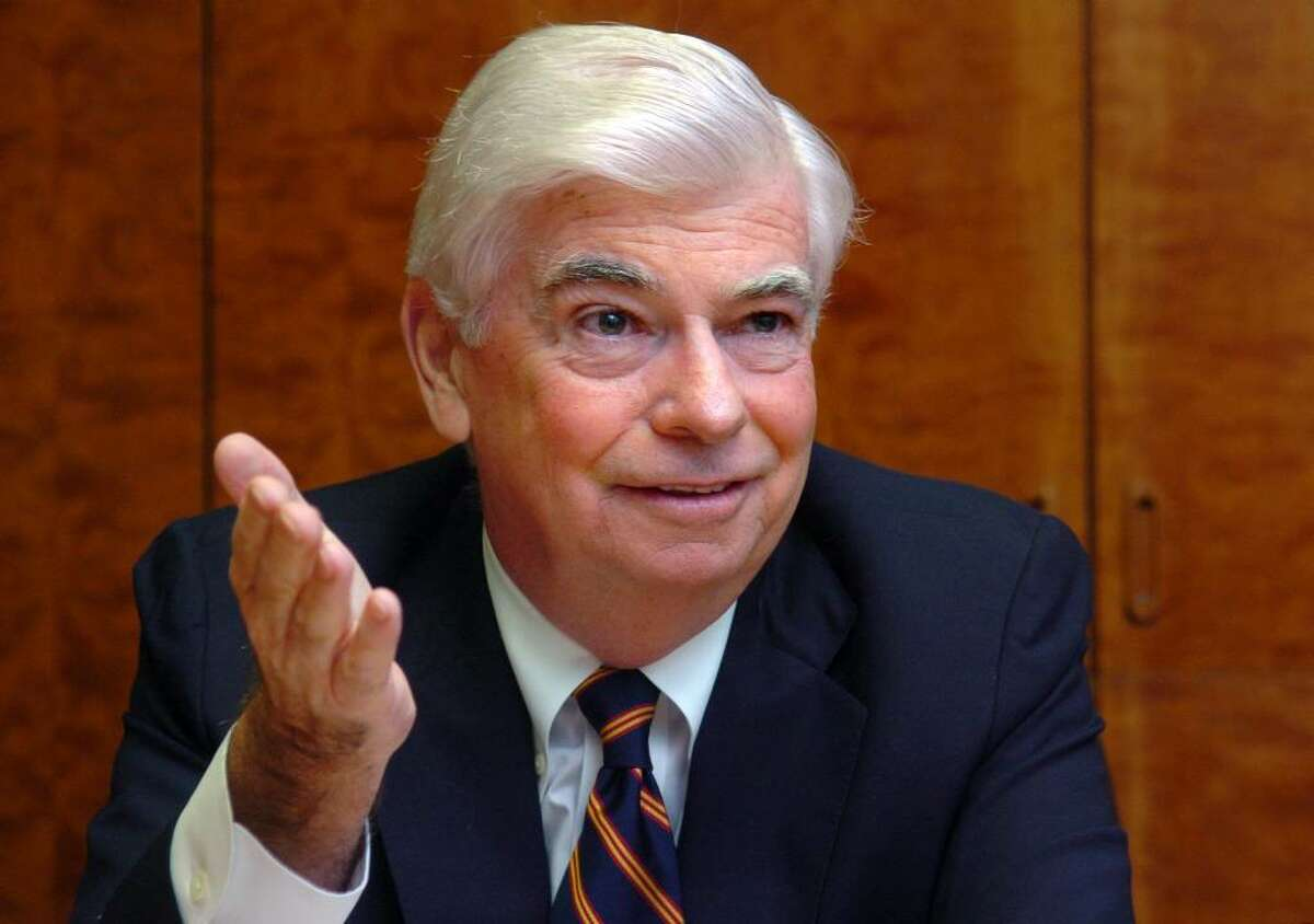 Democratic Senator Christopher Dodd talks with the Connecticut Post editorial board Friday Sept. 18, 2009 at the newspaper's office in Bridgeport, Conn.