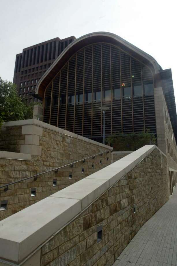 Phil Noel/Staff photographer Kroon Hall at Yale University in New Haven is one of the most environmentally friendly buildings in the world. Photo: Phil Noel / Connecticut Post