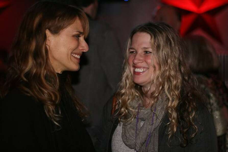 Seattle filmmakers Lynn Shelton and Jennifer Maas mingle at the Seattle Party. Shelton directed 2009