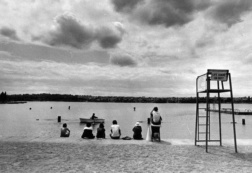 Green Lake lifeguards, July 8, 1976. (Grant M. Haller/Seattlepi.com file)