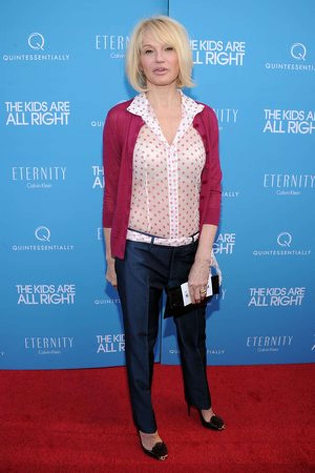 Actress Ellen Barkin attends the premiere of the