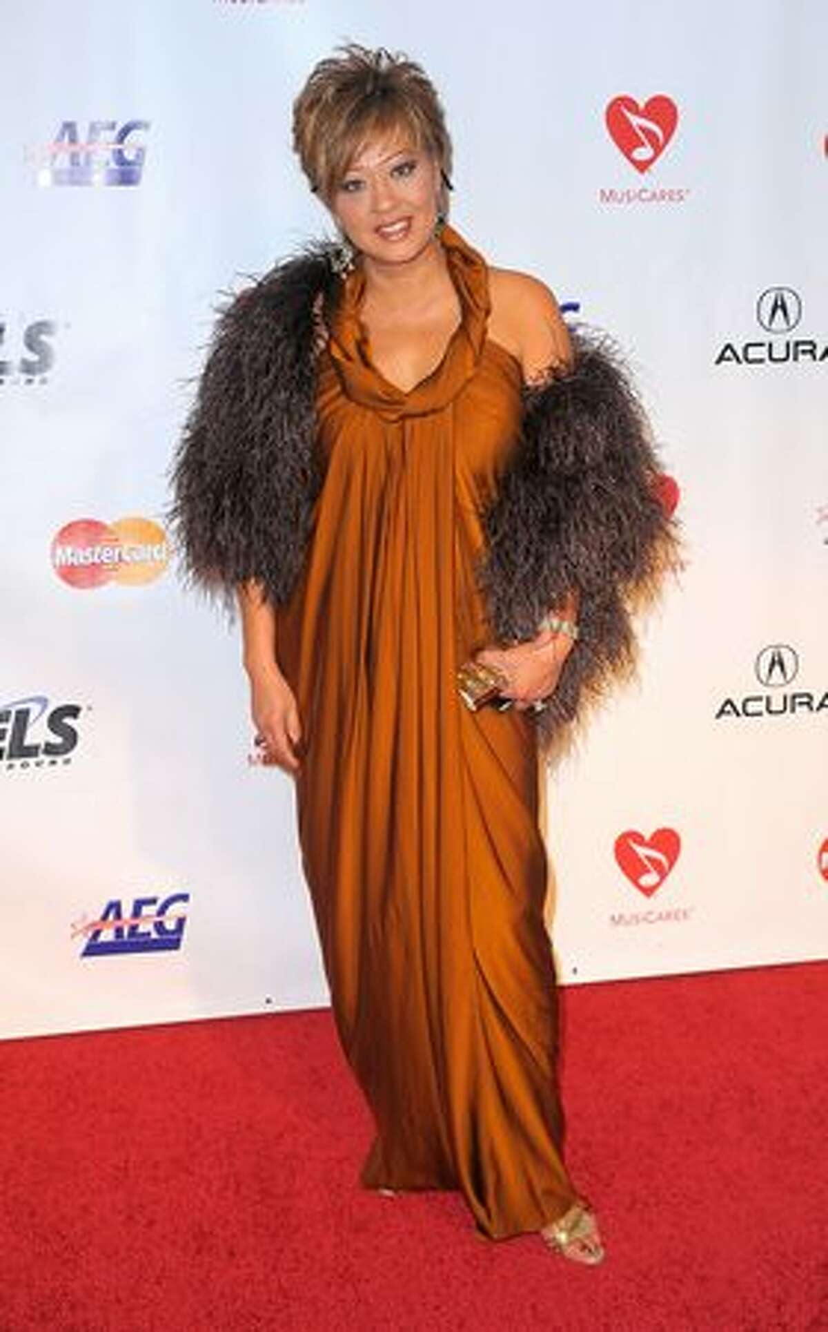 Singer Rosalina arrives at the 2010 MusiCares Person Of The Year Tribute To Neil Young at the Los Angeles Convention Center on January 29, 2010 in Los Angeles, California.