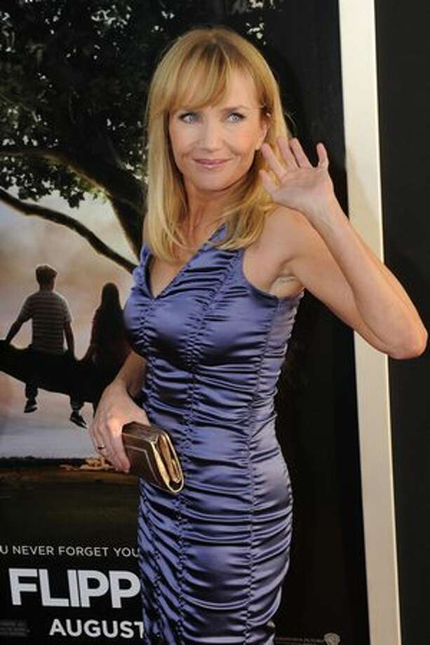 "Actress Rebecca de Mornay poses on the red carpet as she arrives for the premiere of the movie ""Flipped"" at the Cinerama Dome Theater in Hollywood. Photo: Getty Images"