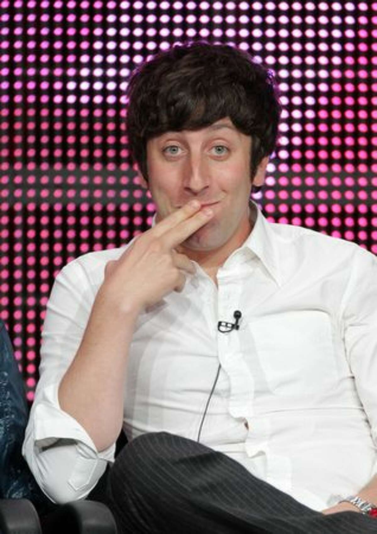 """Actor Simon Helberg speaks at """"The Big Bang Theory"""" panel during 2010 Summer TCA Tour Day 1 at the Beverly Hilton Hotel in Beverly Hills, California."""