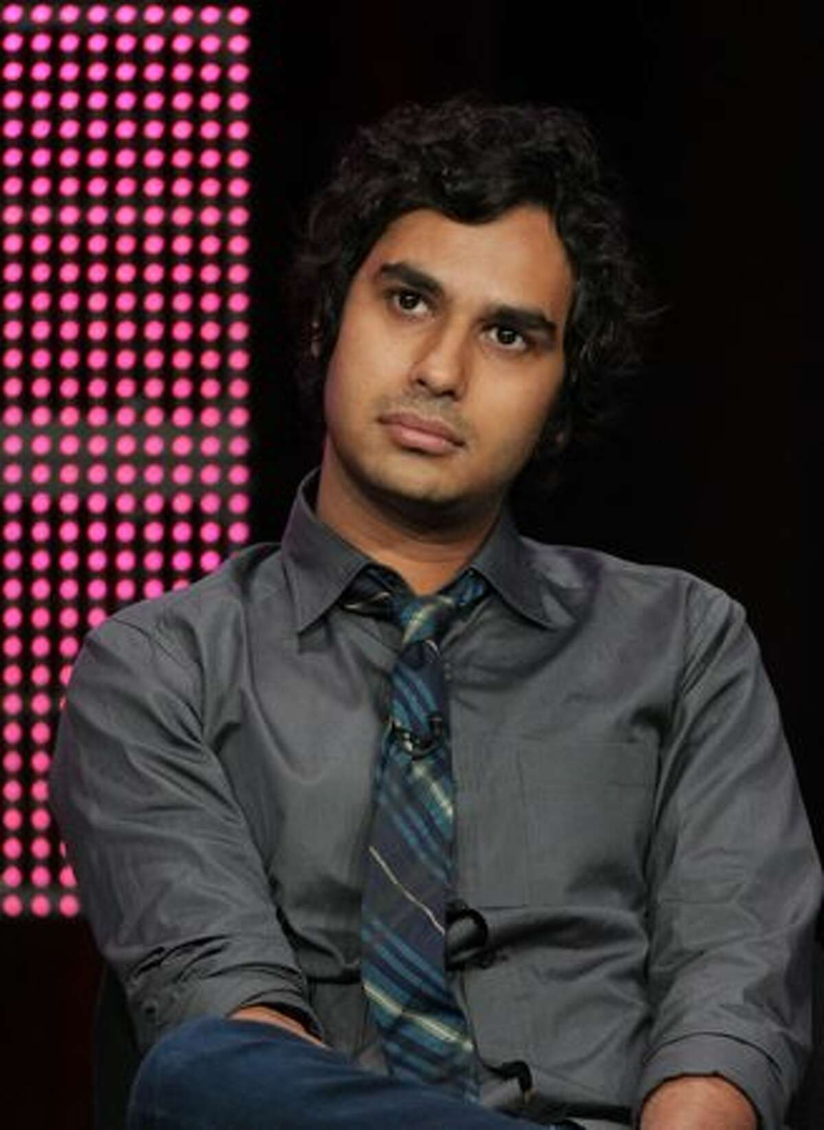 """Actor Kunal Nayyar speaks at """"The Big Bang Theory"""" panel during 2010 Summer TCA Tour Day 1 at the Beverly Hilton Hotel in Beverly Hills, California."""