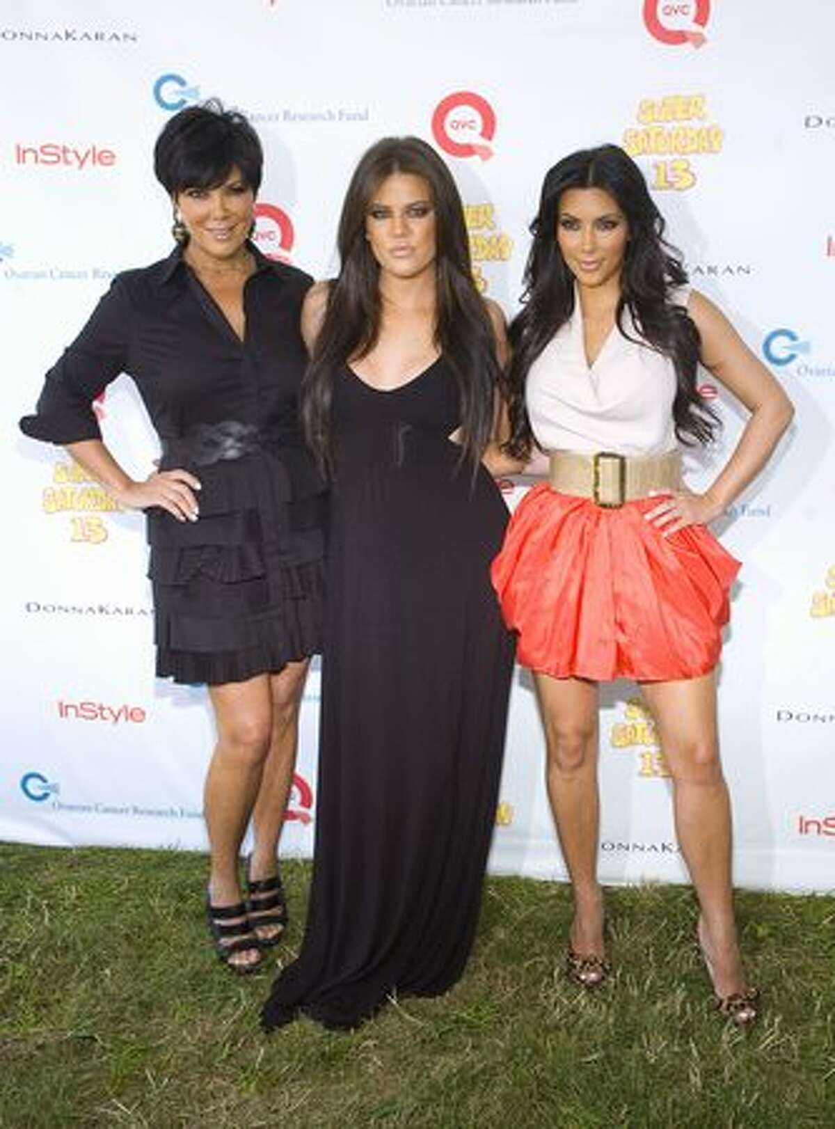 (L-R) Television personalities Kris Jenner, Khloe Kardashian and Kim Kardashian attend the 13th Annual Super Saturday event at Nova's Ark Project on July 31, 2010 in Water Mill, New York.