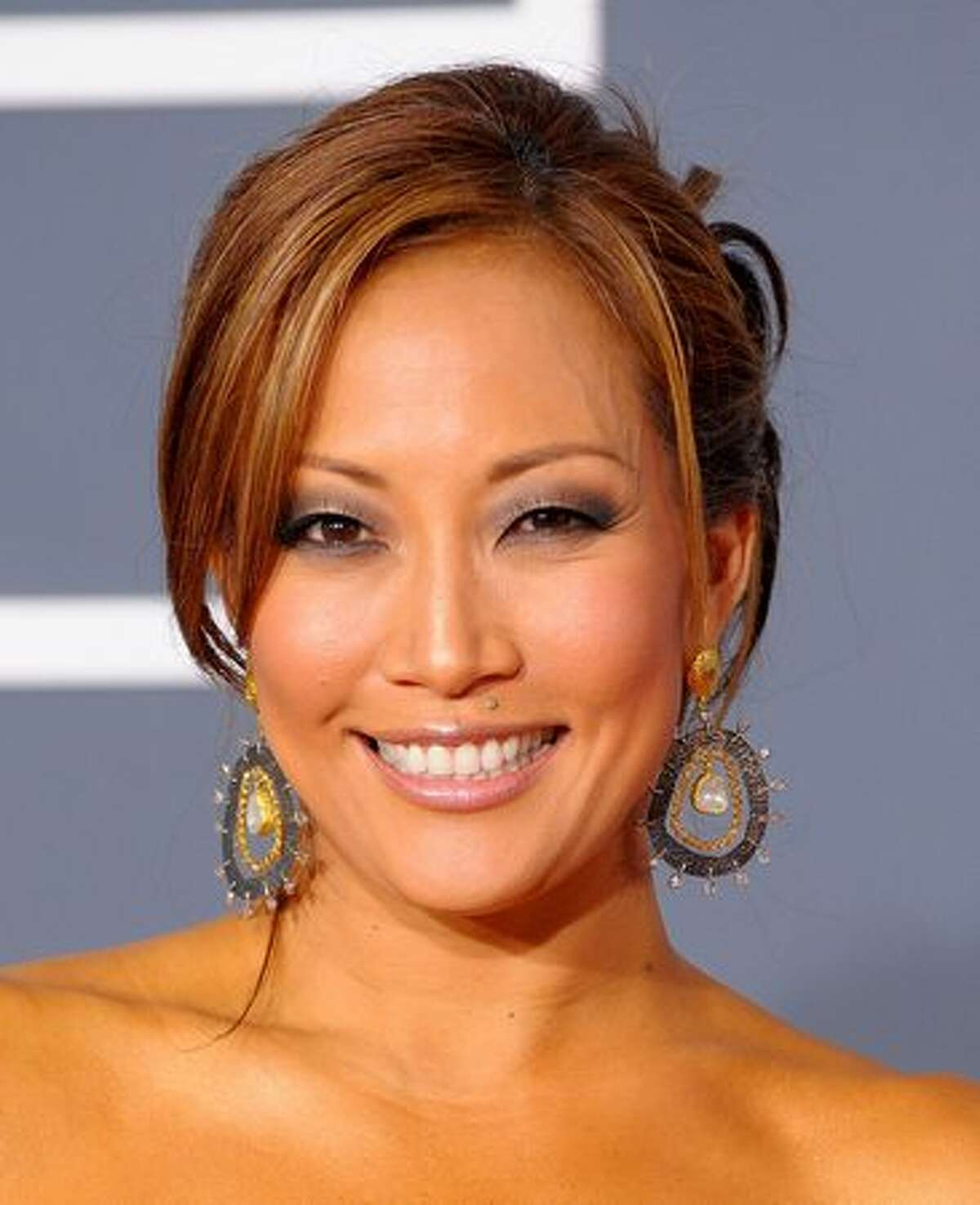 TV personality Carrie Ann Inaba arrives.