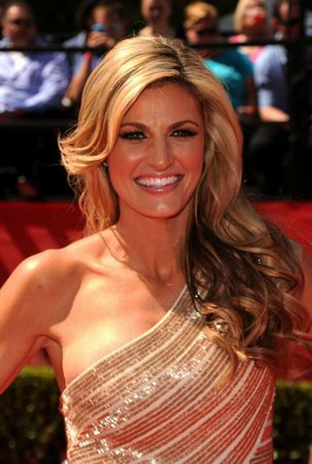 ESPN talent Erin Andrews arrives at the 2010 ESPY Awards at Nokia Theatre L.A. Live in Los Angeles on Wednesday, July 14, 2010. Photo: Getty Images