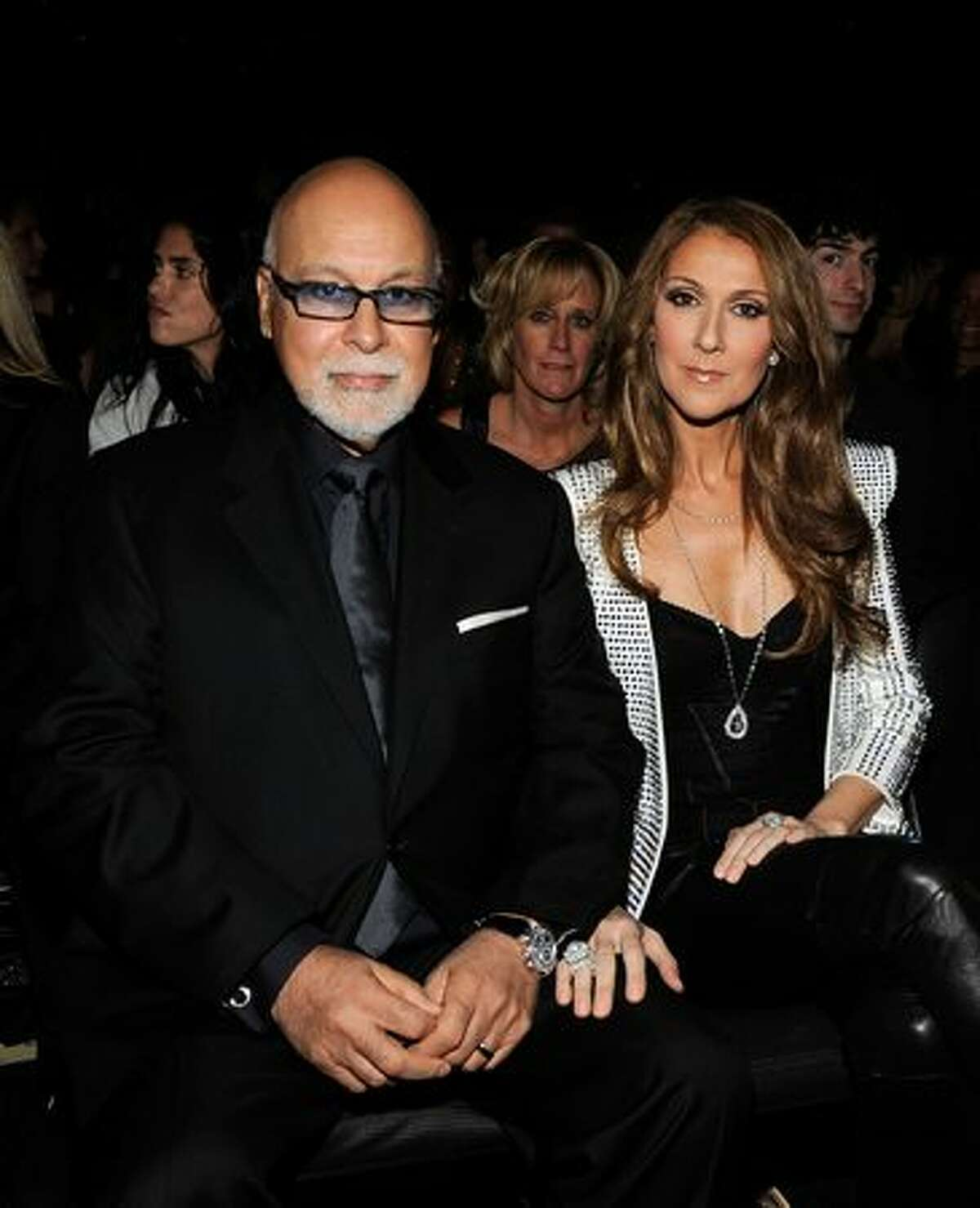 Singer Celine Dion (right) and husband Rene Angelil in the audience.