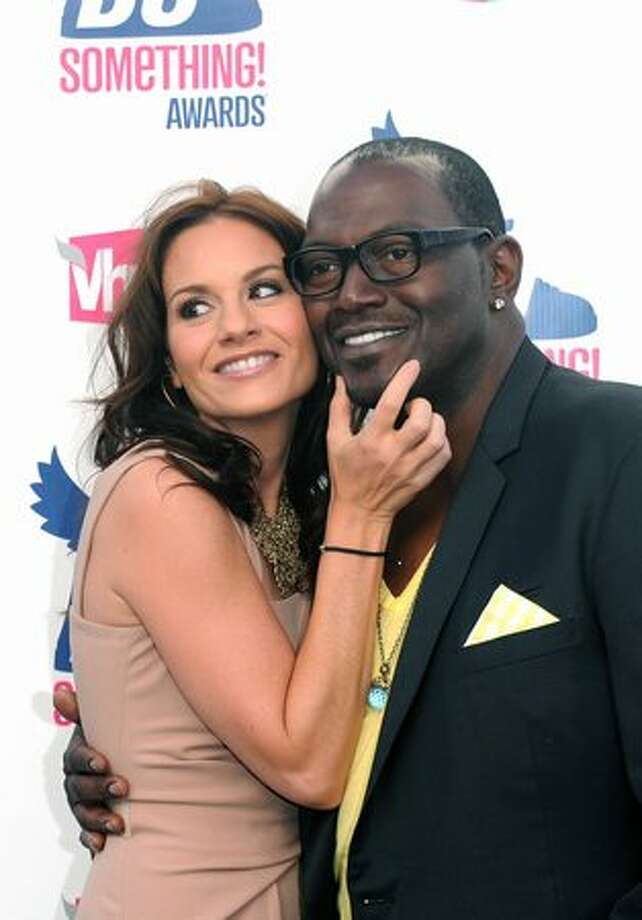 TV personalities Kara DioGuardi (L) and Randy Jackson arrive. Photo: Getty Images