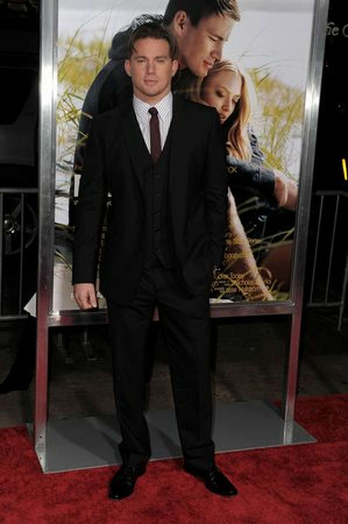 HOLLYWOOD - FEBRUARY 01: Actor Channing Tatum arrives at the premiere of Screen Gems'