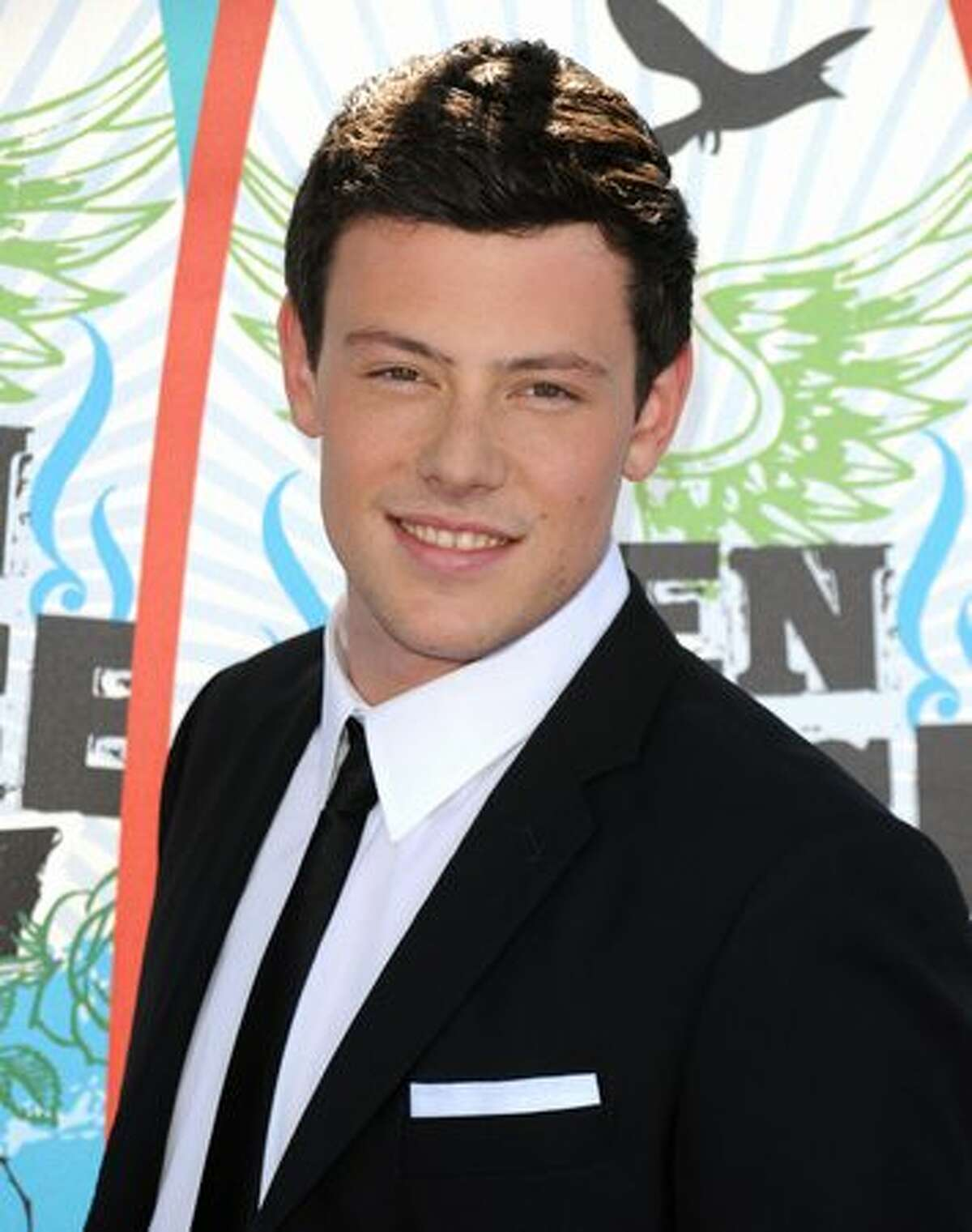 Actor Cory Monteith arrives.