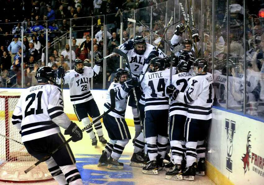 Highlights from NCAA hockey tournament action between Yale and Air Force at the Webster Bank Arena at Harbor Yard in Bridgeport on Friday March 26, 2011.