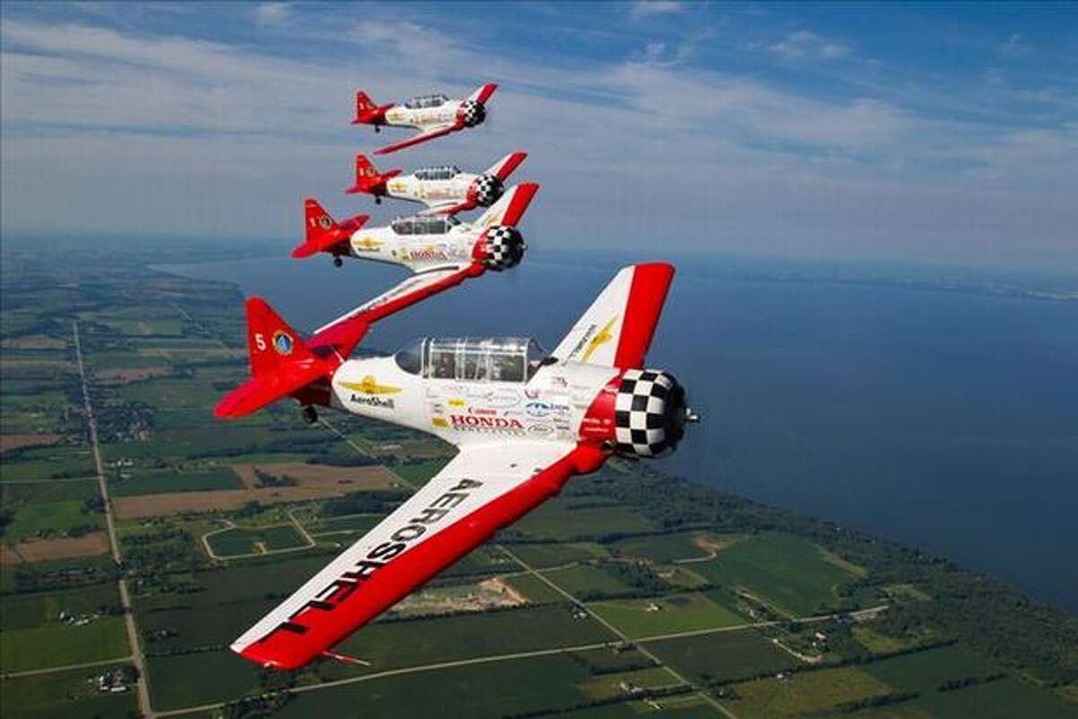 The 4 North American T-6A