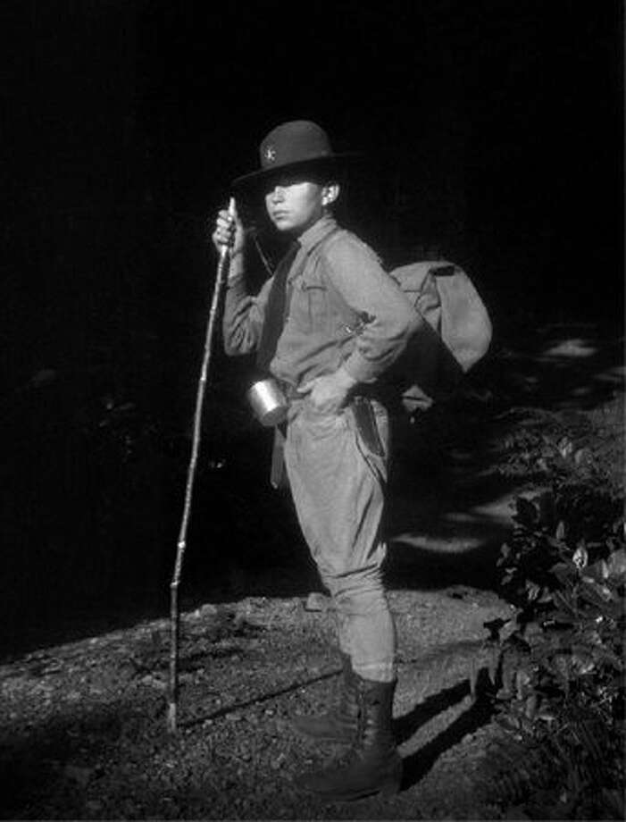 Church of Scientology founder L. Ron Hubbard in Seattle in 1923, as a Boy Scout.  Hubbard was only 12 years old when this picture was taken.  (Author Services, Inc. - LRonHubbard.org)
