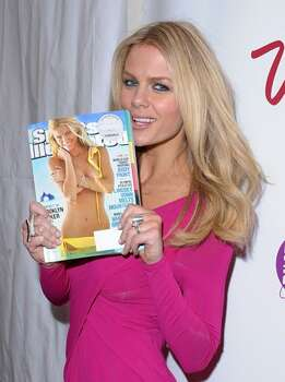 Model Brooklyn Decker, who appears on the cover, attends the Sports Illustrated Swimsuit 24/7: New York Launch Party at Provocateur at The Hotel Gansevoort in New York on Tuesday, Feb. 9, 2010. Photo: Getty Images