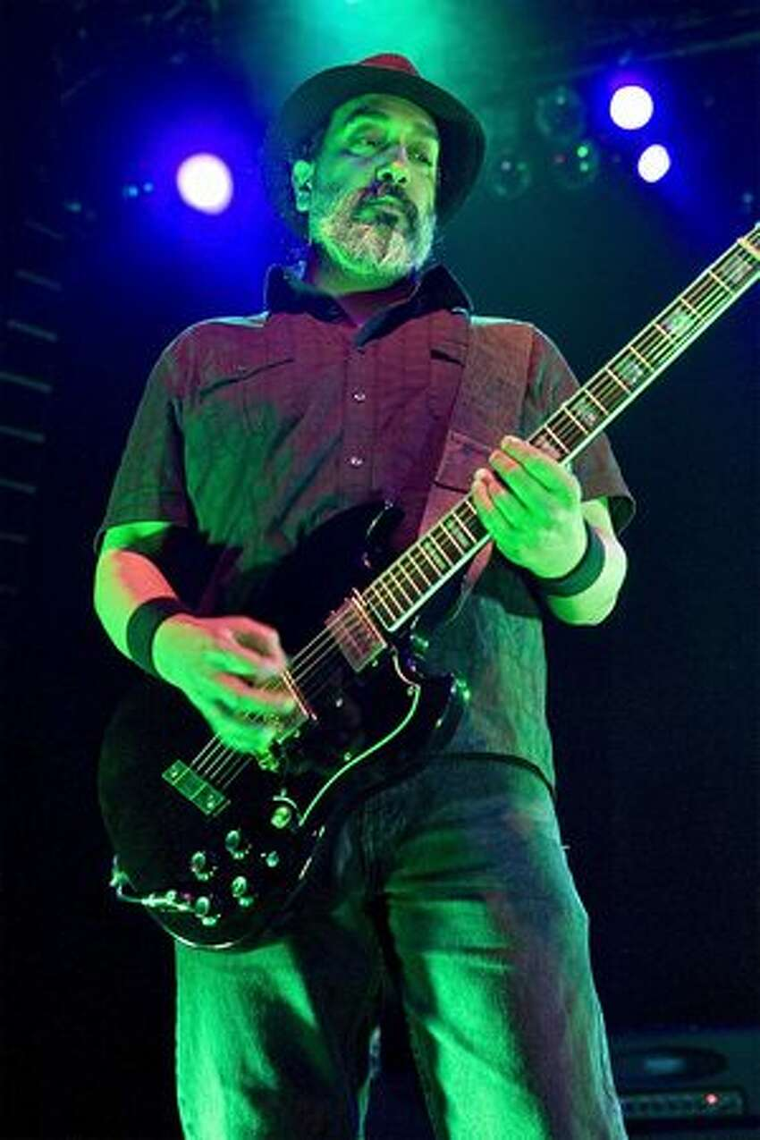 Kim Thayil of Soundgarden performs an intimate Lollapalooza pre-show at The Vic Theatre in Chicago.