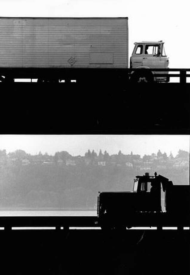 The Alaskan Way Viaduct, Oct. 19, 1989. Photo: P-I File