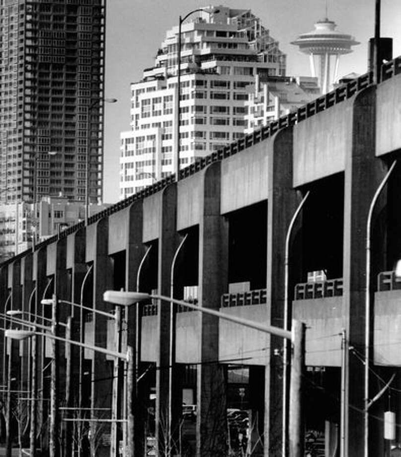 The Alaskan Way Viaduct, Oct. 13, 1996. Photo: P-I File