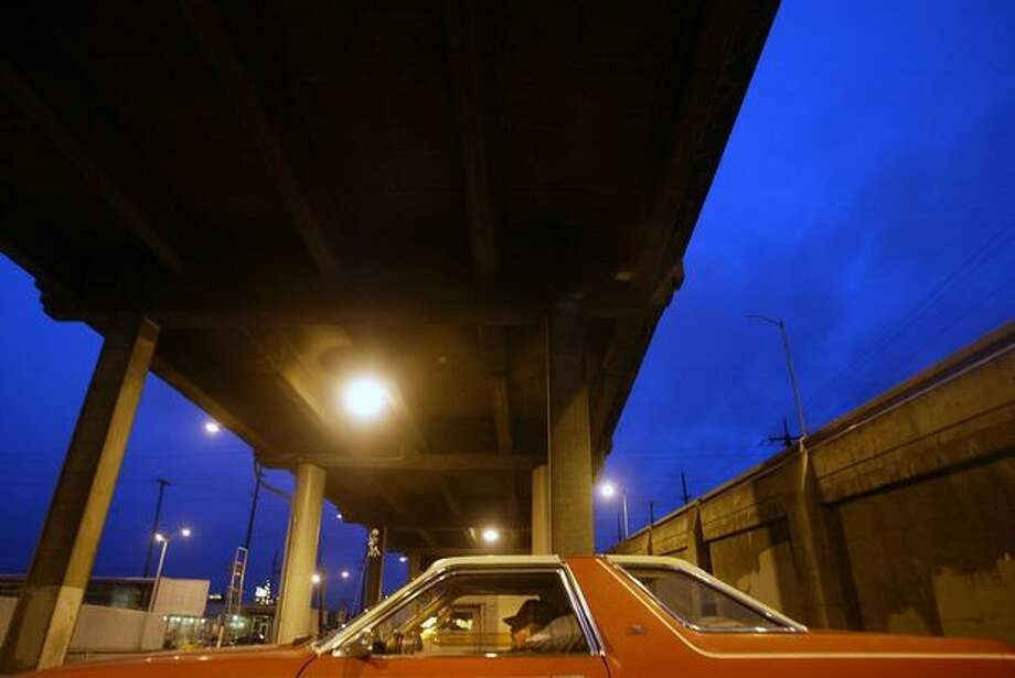 Scott McCleary, 54, lived in his car under the Viaduct on Christmas Day, 2005. Photo: P-I File