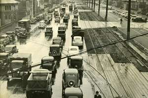 Alaskan Way prior to construction of of the Alaskan Way Viaduct. Exact date unknown.
