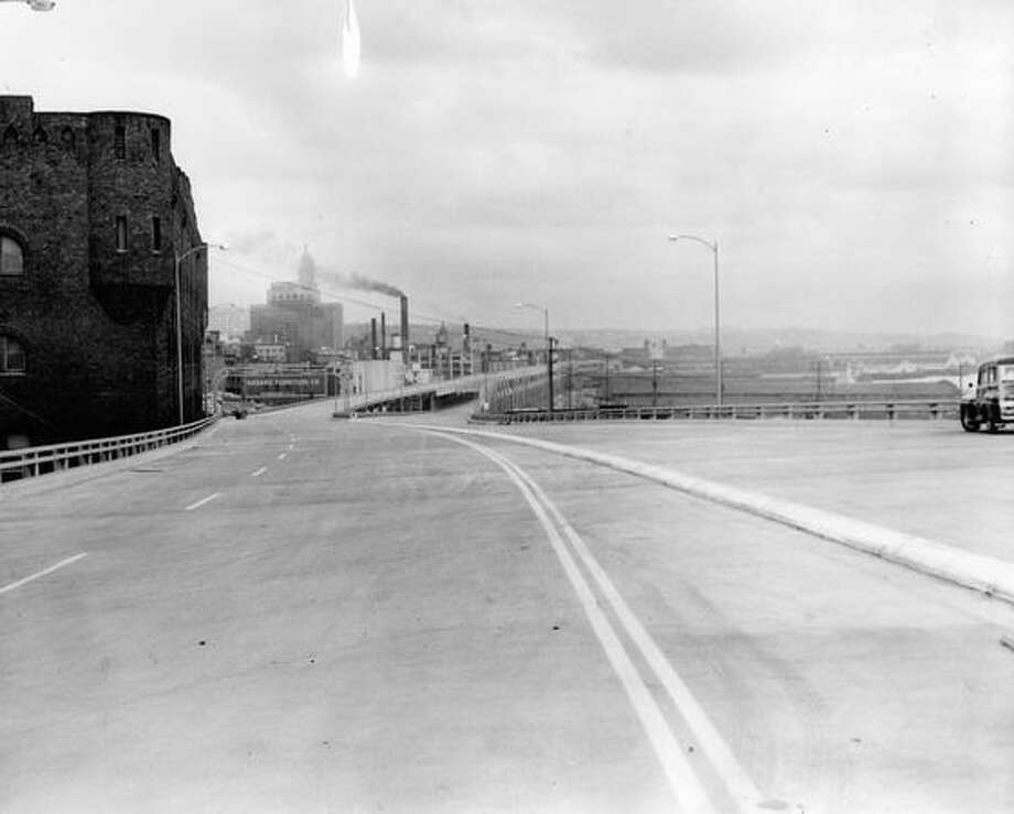 The Alaskan Way Viaduct, March 11, 1953. Photo: P-I File