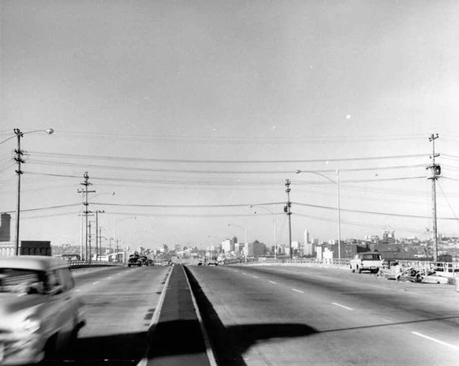 The Alaskan Way Viaduct, Feb. 1, 1960. Photo: P-I File