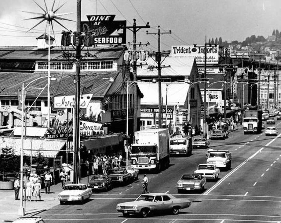 Alaskan Way, August 9, 1971. Photo: P-I File
