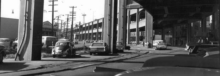 The Alaskan Way Viaduct, Nov. 26, 1983. Photo: P-I File