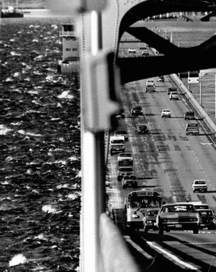 The 520 bridge, Dec. 2, 1973. Photo: P-I File