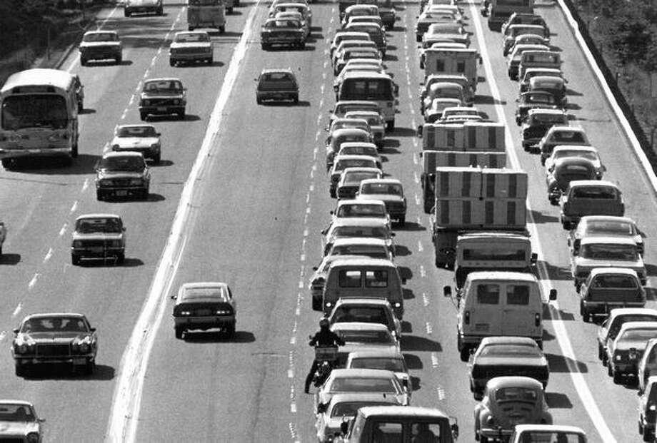 The 520 bridge, May 15, 1976. Photo: P-I File
