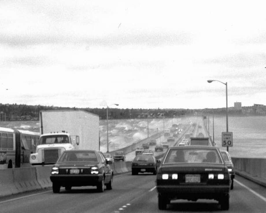 The 520 bridge, Nov. 1986. Photo: P-I File