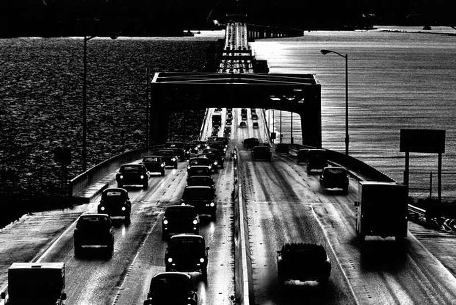 The 520 bridge, March 7, 1977. Photo: P-I File