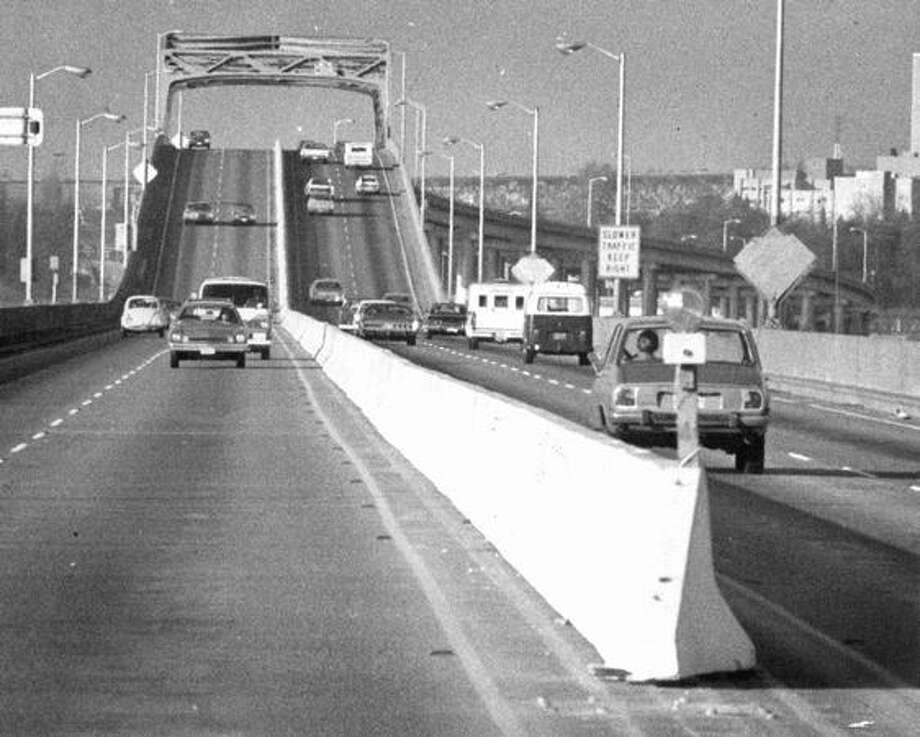 The 520 bridge, Dec. 7, 1974. Photo: P-I File